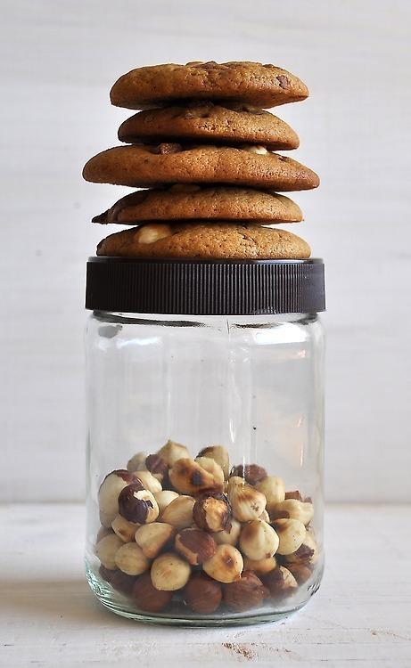 Biscoitos de Avelã e Chocolate