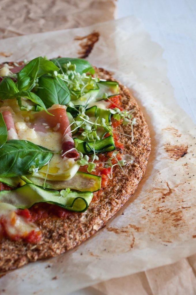 Base de Pizza com Couve-Flor