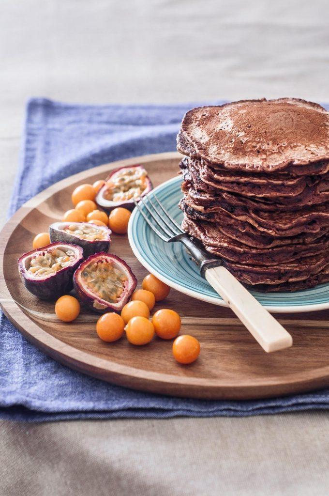 Panquecas de Cacau e Pepitas de Chocolate